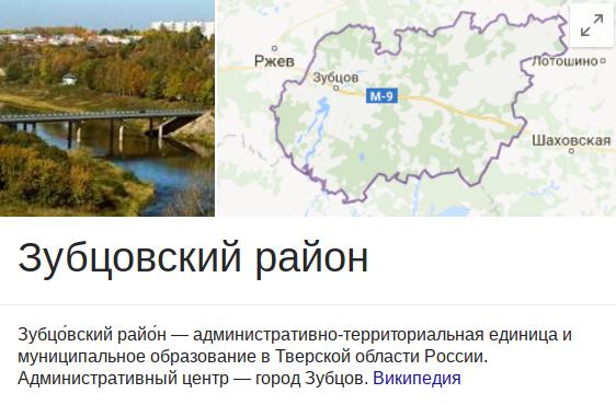 в Зубцове и Зубцовском районе