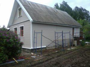 Объект №.40. Обшивка дома сайдингом с утеплением