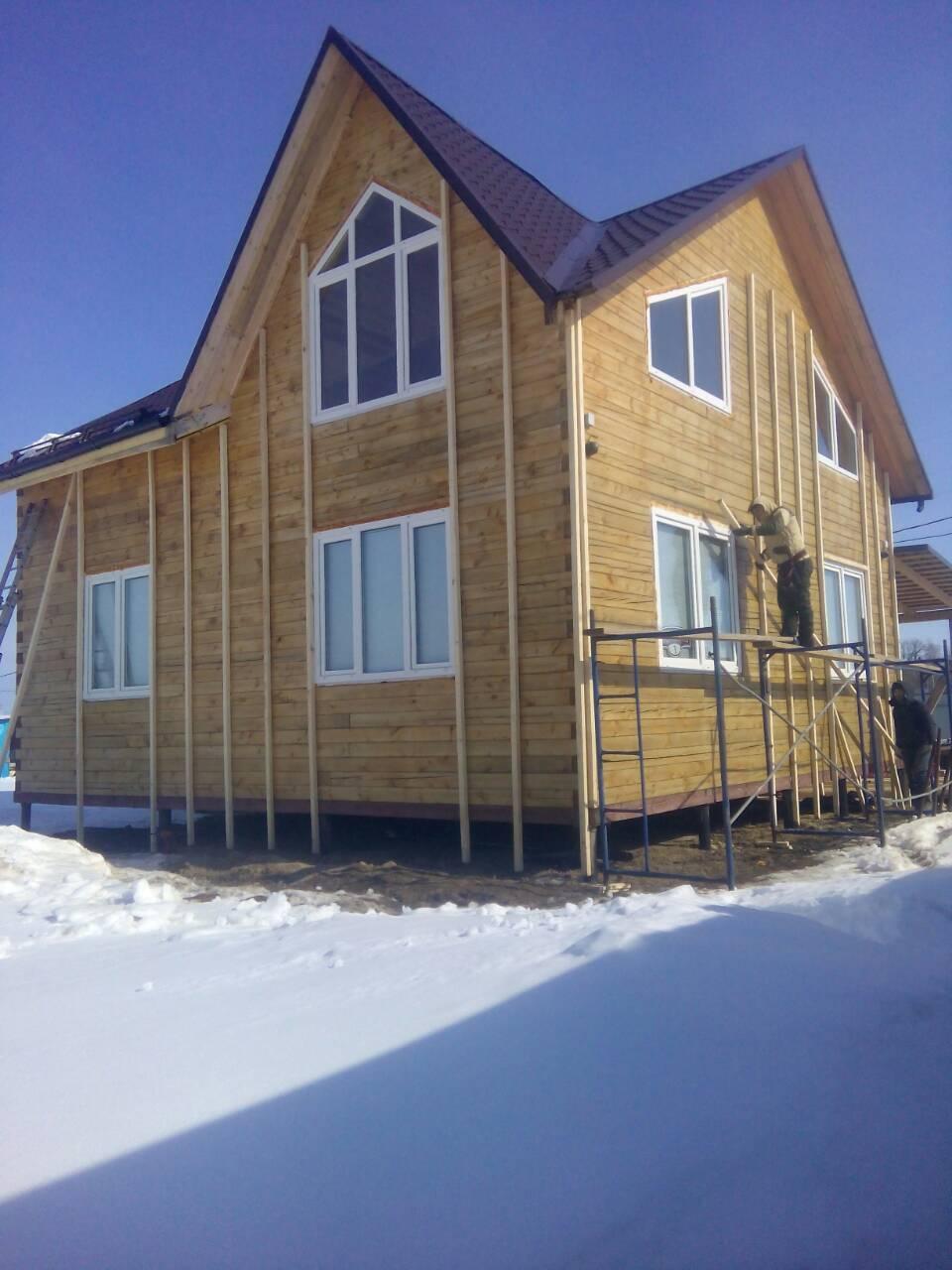 Объект № 57. Обшивка дома сайдингом с утеплением