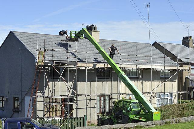 строительство крыши, фото