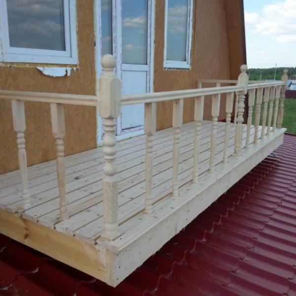 Пристройка балкона и замена кровли на веранде в СНТ «Холмец», фото