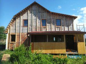 Объект № 63. Отделка дома цокольным сайдингом в деревне Гордино