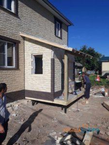 Объект № 66. Монтаж и отделка крыльца в деревне Ровни