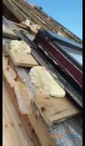 Объект № 75. Демонтаж и монтаж кровли, фронтонов и балкона в Потапово