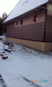 Объект № 73. Монтаж винилового и цокольного сайдинга в деревне Середа