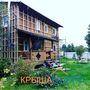 Монтаж фасадных панелей в Шестаково