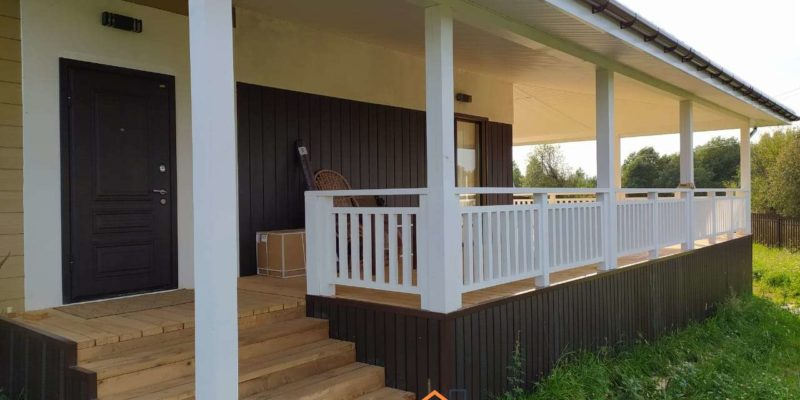 Объект № 87. Пристройка террасы к дому и постройка хозблока