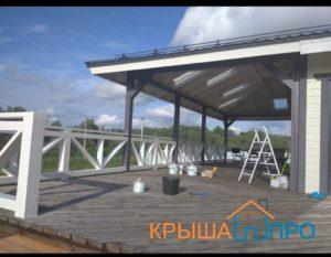 Монтаж перил и ступеней на террасу в Чухолово, фото