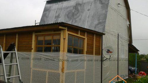 Гидроизоляция фасада, фотография