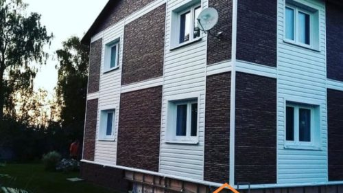 Монтаж фасадных панелей, фотография