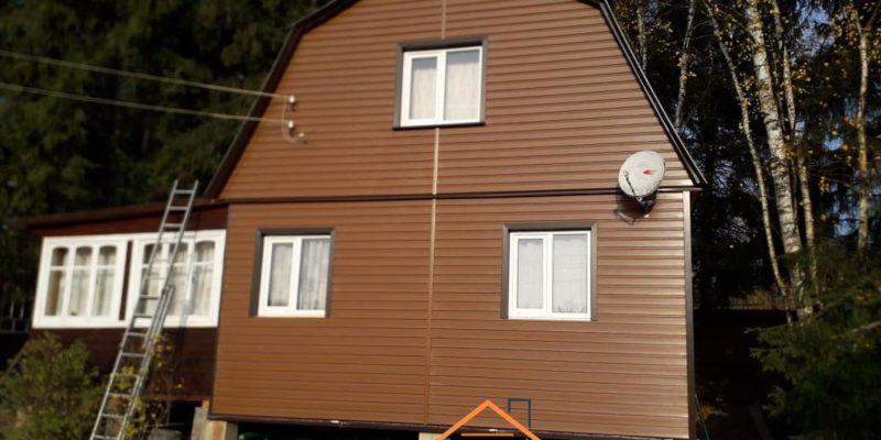 Объект № 97. Монтаж сайдинга с утеплением, софита и водосточной системы, фотография этапа ремонта
